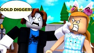 FIGHTING A GOLD DIGGER IN ROBLOX - ROBLOX SOCIAL EXPERIMENT GONE WRONG!