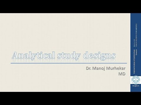 Analytical study designs