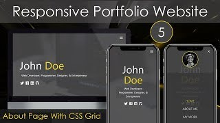 Responsive Portfolio Website [5] - About Page With CSS Grid