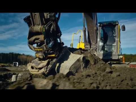 engcon tiltrotator with ePS for 3D machine control systems