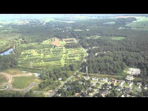 Airborne Video Gibsonville Elementary School Gibsonville NC