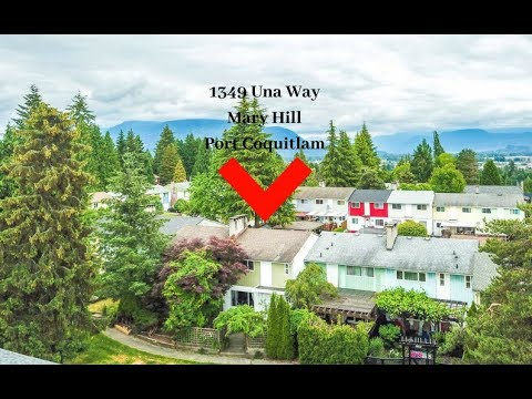 sold 1349 una way mary hill port coquitlam from above