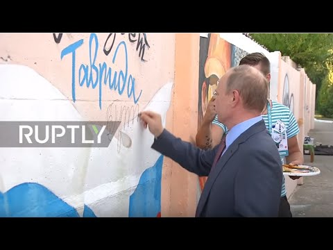 Russia: Putin meets with International Youth Forum Tavrida in Crimea