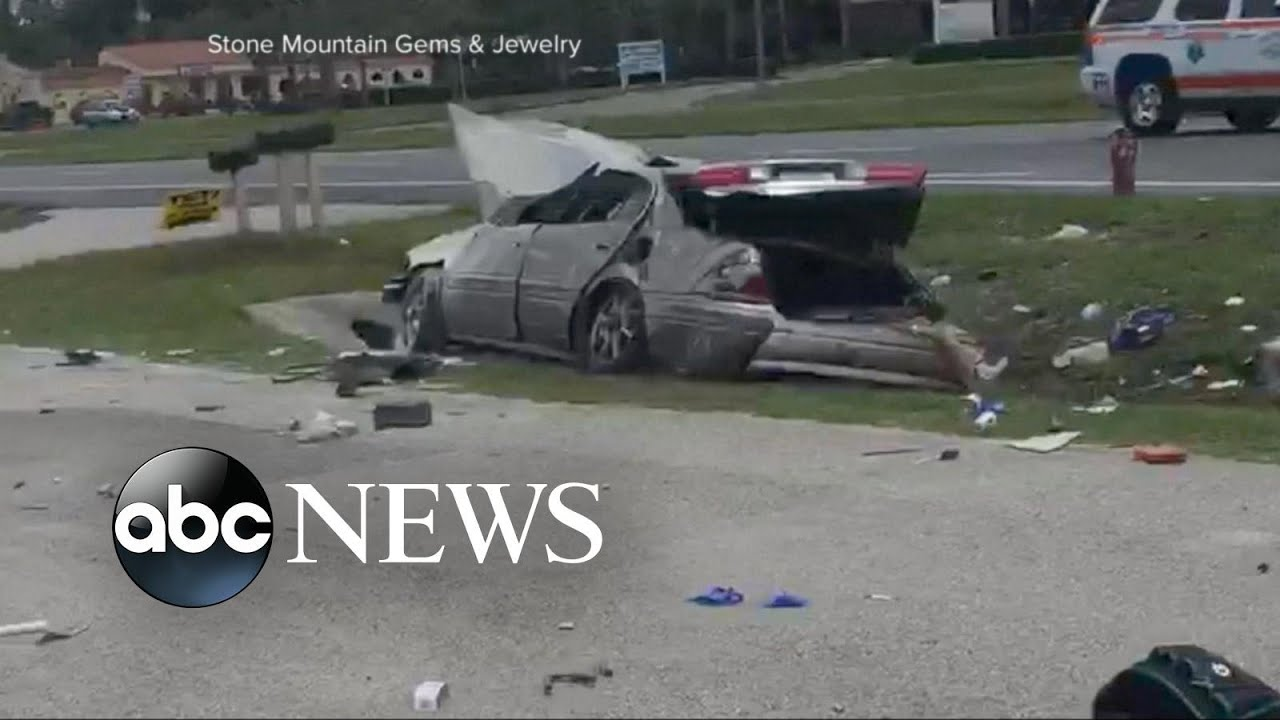 heart-stopping car wreck caught on camera in florida - youtube
