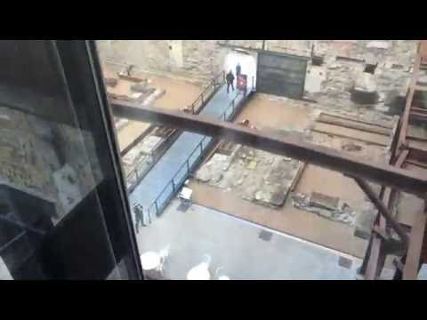 Elevator ride at Mill City Museum