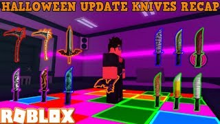 PLAYING WITH ALL THE NEW HALLOWEEN EVENT KNIVES (ROBLOX ASSASSIN) *2018 SHOWCASE/RECAP*