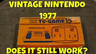 Vintage Nintendo Color TV-Game 15:  Does It Still Work?
