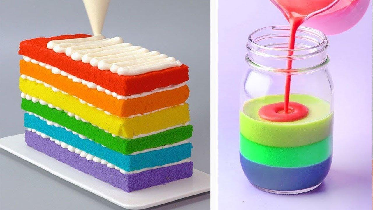10+ Easy And Tasty Rainbow Cake Ideas | The Best Chocolate Cake Tutorials | Tasty Plus Cakes