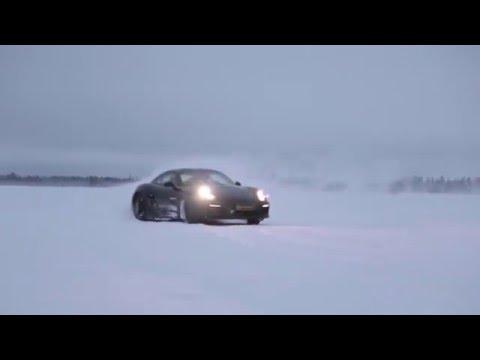 Зимой на Porsche Cayman GTS C шинами ContiWinterContact™ TS 830 P