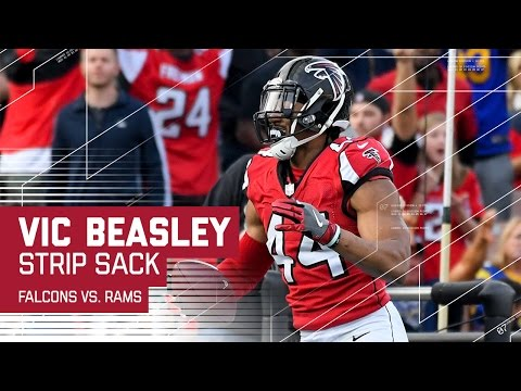 Vic Beasley Strip Sacks Jared Goff & Returns it for the TD! | NFL Week 14 Highlights