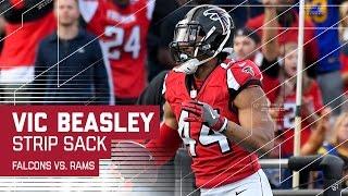 Vic Beasley Strip Sacks Jared Goff & Returns it for the TD! | NFL Week 14 Highlights