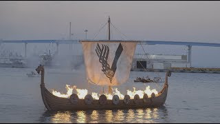 The history channel burned a boat for a viking funeral