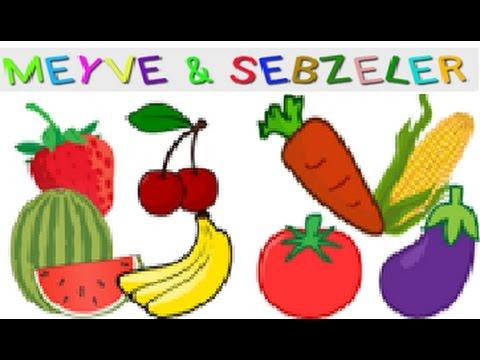 Meyve ve sebzelerin adı. İngilizce öğrenmek