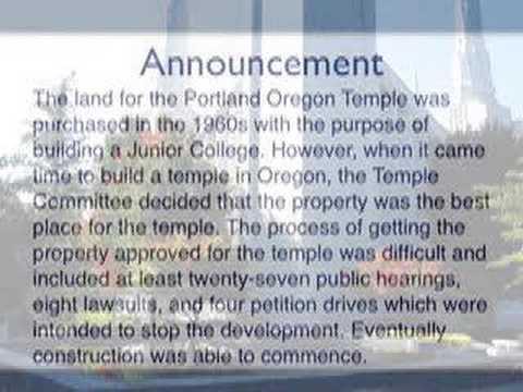 Portland Oregon LDS (Mormon) Temple - Mormons