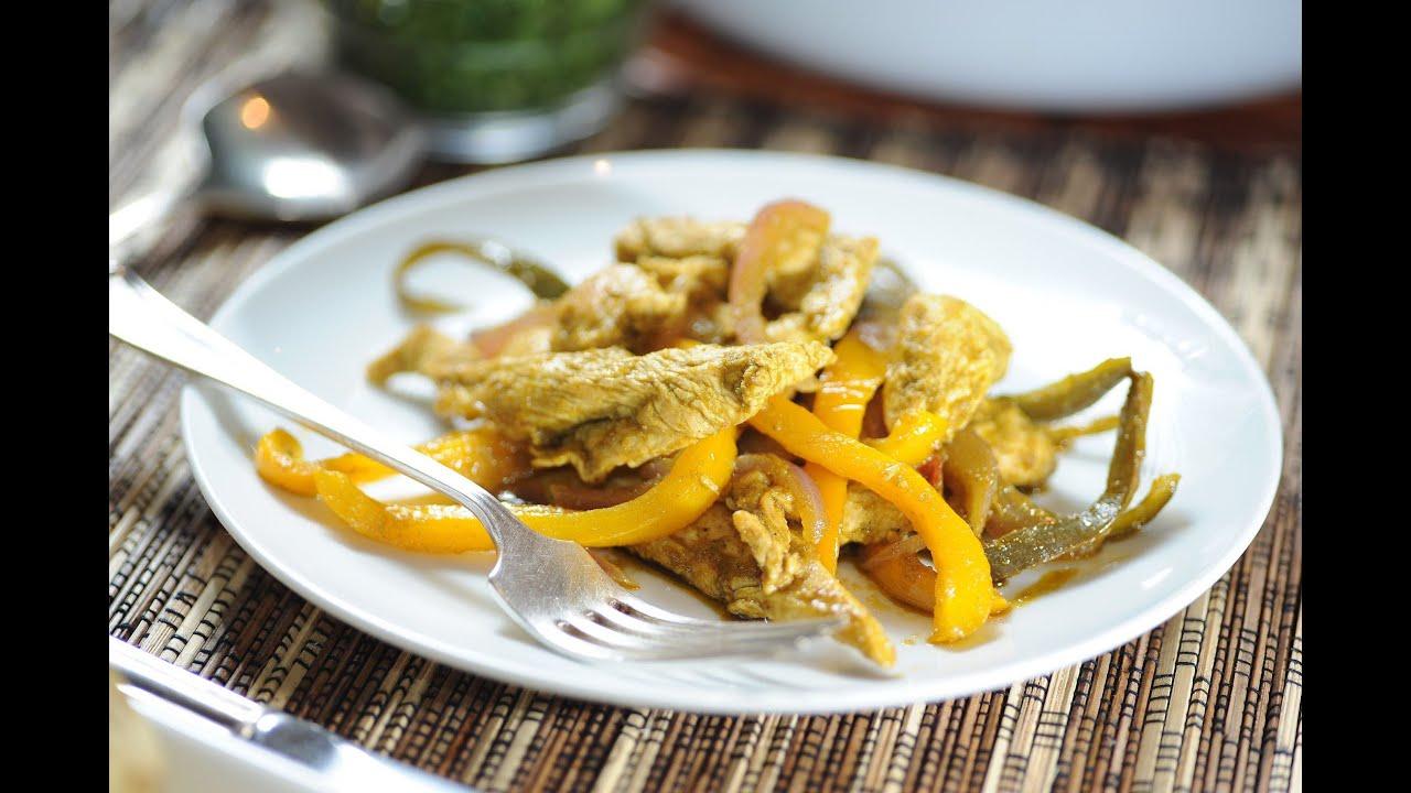 Fajitas de pollo al cilantro recetas de pollo como for Cocinar higaditos de pollo