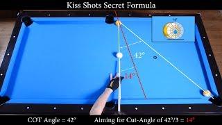 Kiss Shots Secret Formula Revealed - Aiming Angle Fraction System - Pool & Billiard training lesson