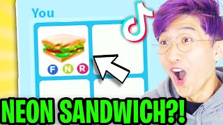 Can We Use ADOPT ME TIK TOK HACKS To GET A NEON SANDWICH!? (ACTUALLY WORKED!)