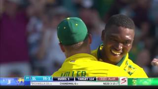 South Africa vs Sri Lanka - 2nd T20 - SL Innings Highlights