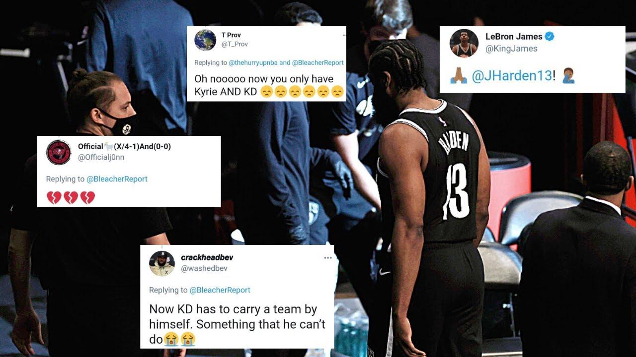 NBA World Reacts To James Harden Injury News