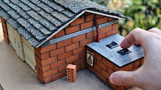 build a Mini Garage with Real Bricks - Bricklaying with Mini Bricks