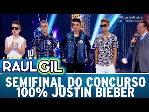 Programa Raul Gil (22/10/16) - Semifinal do Concurso 100% Justin Bieber