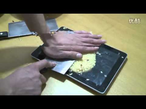 Huawei MediaPad 10 FHD Screen Test- Cutting Apples on the Tablet
