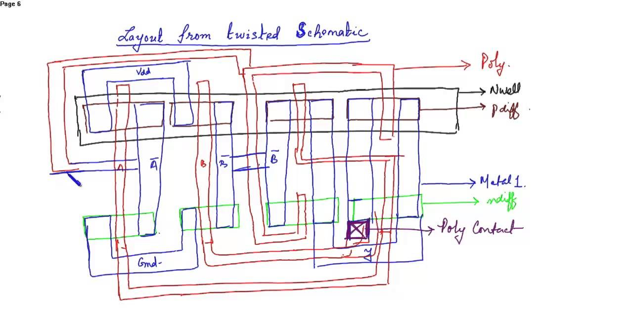 schematic diagram and layout of two input xnor gate youtubecircuit diagram of xnor gate 12 [ 1280 x 664 Pixel ]