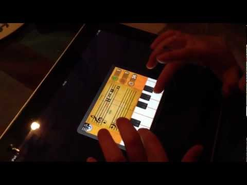 Kids App to teach them to recognise notes on sheet music.
