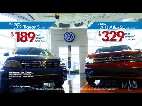 Lease a 2018 Atlas SE for $329 a month and a 2019 Tiguan S for $189 a month at MAG Volkswagen