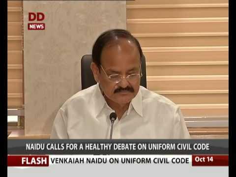 Venkaiah  Naidu calls for a healthy debate on Uniform Civil Code.