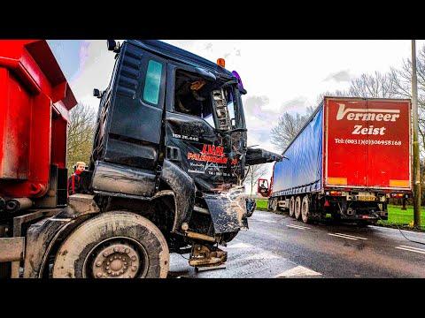 BERGING : Ongeval tussen twee vrachtwagens 🚚 🚛