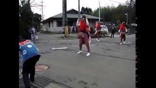 北羽鳥の獅子舞 - ハナガカリ(千葉県成田市北羽鳥) 平成28.4.3 10:15頃