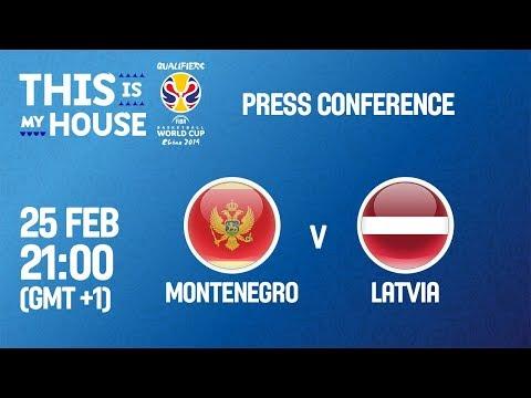 Montenegro v Latvia - Press Conference