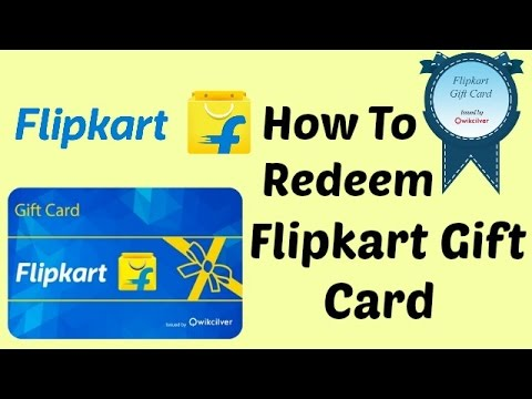 How to Redeem Flipkart Gift Card, How to use Flipkart Gift Voucher