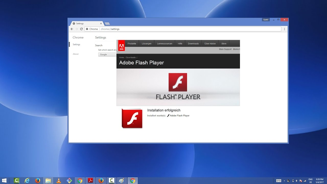 activer adobe flash player windows 10 google chrome