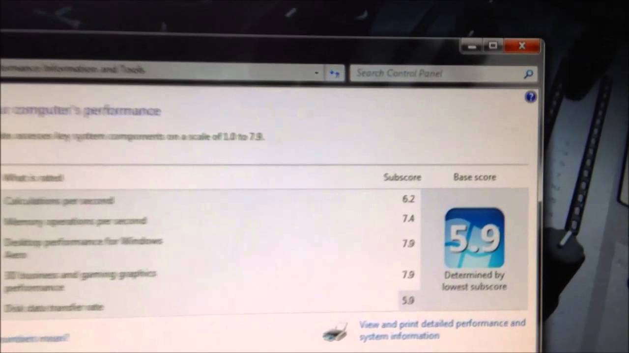 Windows experience index cpu rating is bunk amd fx 6300 for R rating for windows