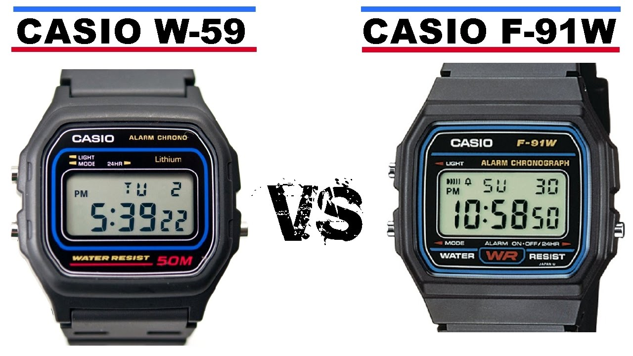 9e413a85116c Casio F-91W VS Casio W-59 - YouTube