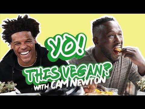 Cam Newton & Hannibal Buress Eat Vegan Tacos in Los Angeles | Yo! This Vegan?