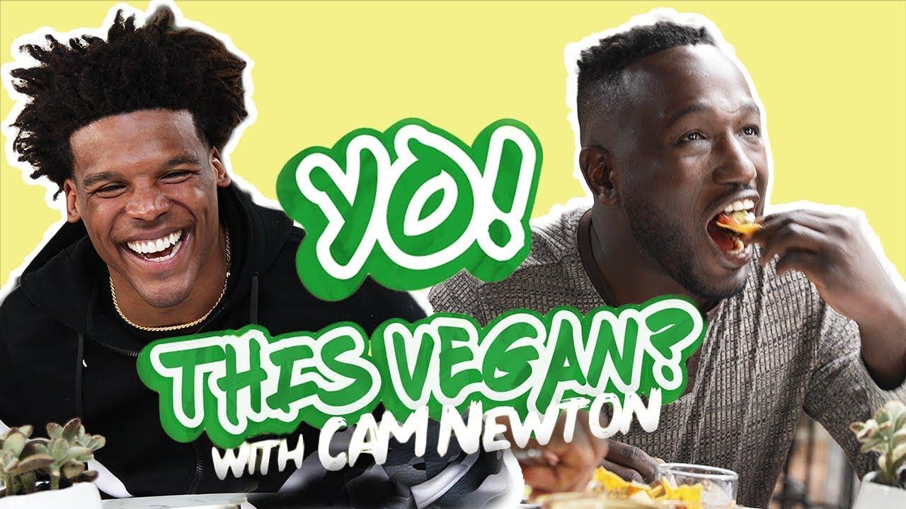 huge selection of 13e4e 55f33 NFL Star Cam Newton Goes Vegan | VegNews