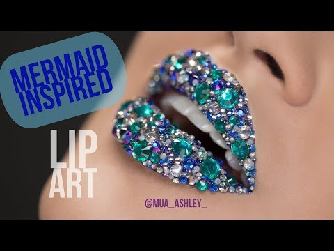 MERMAID LIP ART featuring EOS Crystal Lip Balm | Ashley Rosa