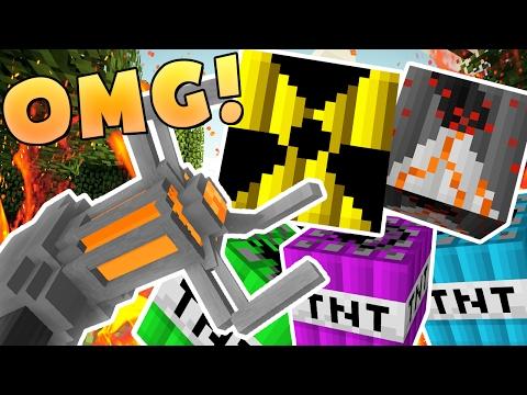EPIC MODDED TNT WARS (NUKE TNT, CHEMICAL TNT, VOLCANO TNT) - MODDED Minigame