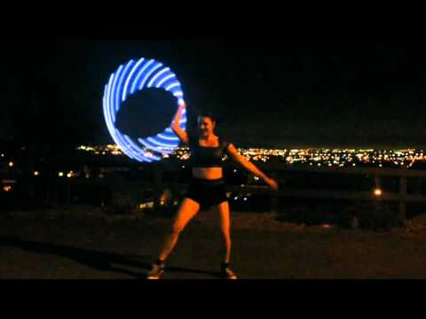 """Pixie Flow Arts ODESZA """"Always This Late"""" LED Hula Hoop flow performance"""