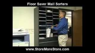 Vertical Free Standing Sorter for Mail and Literature Sorting Cubby Cabinet