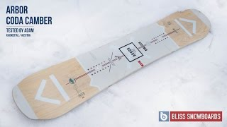 Arbor Coda Camber 2016 Snowboard Review By Adam At Bliss Snowboards