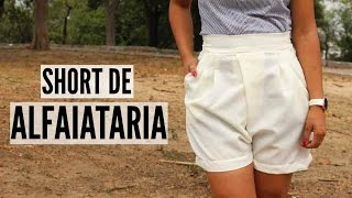 SHORT DE ALFAIATARIA FEMININO – MOLDE E COSTURA