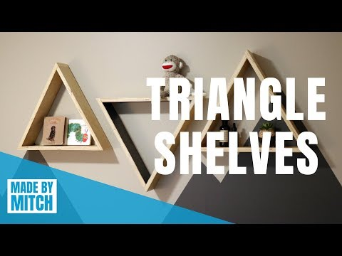 DIY Floating Triangle Shelves