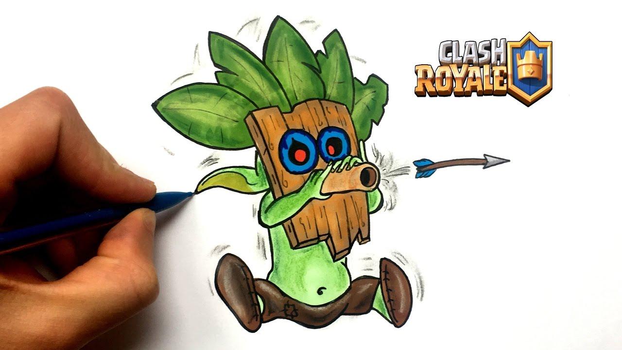 Draw Dart Goblin Clash Royale