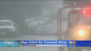 Man Killed After He Comes In Contact With Downed Power Line In Sherman Oaks