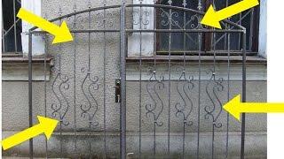 Ворота для дома и дачи своими руками.Художественная ковка.(В этом видео я показал как можно своими руками сделать простые кованые ворота,в которых используются самод..., 2016-10-08T04:30:01.000Z)