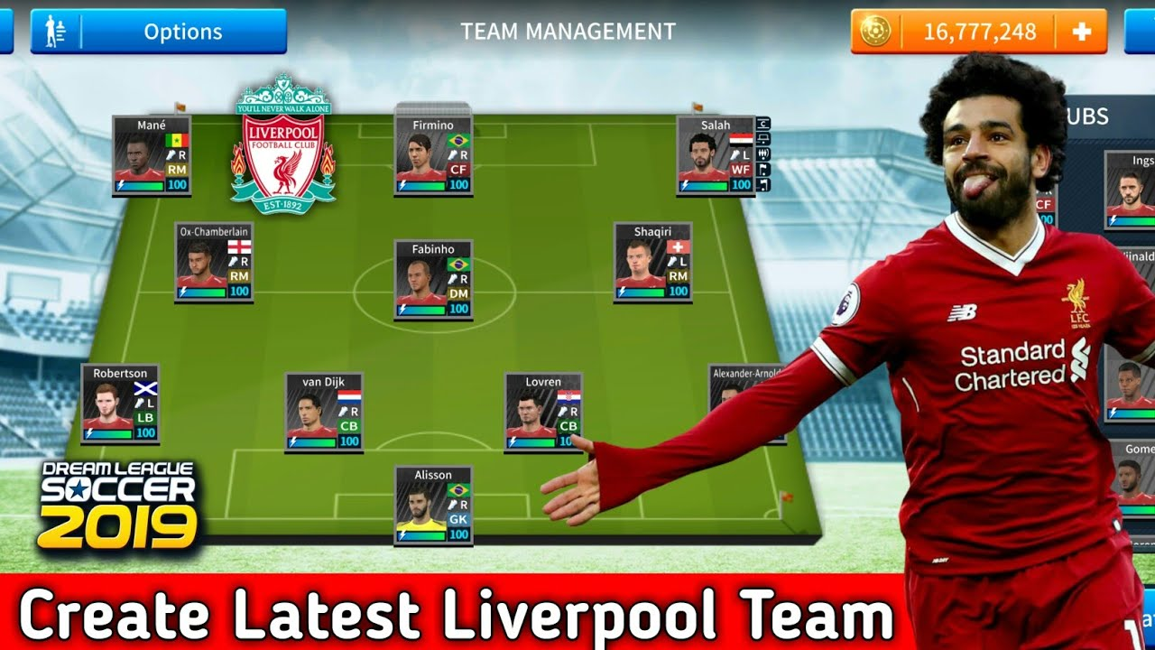 How To Create Liverpool Team In Dream League Soccer 2019